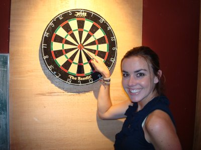 Kate with her second(!) bullseye!