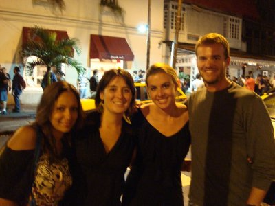 Chelsea, Nikki, Kate and Tim out in Rio