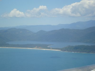 View of Ihla Santa Catarina (Florianopolis) from plane