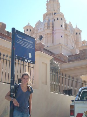 Kate and the Santa Catalina Cathedral in Cordoba
