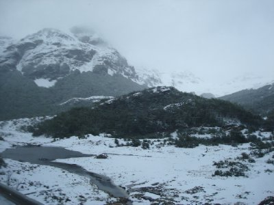 Driving into Ushuaia