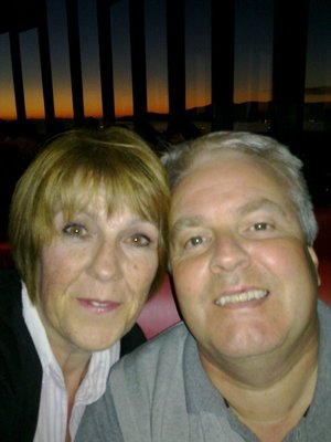 Iain and Moira in revolving restaurant