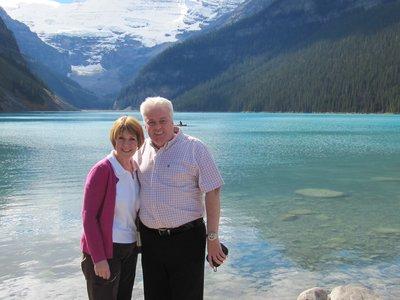 Iain and Moira at Lake Louise