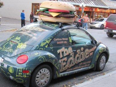 Cool car in Banff