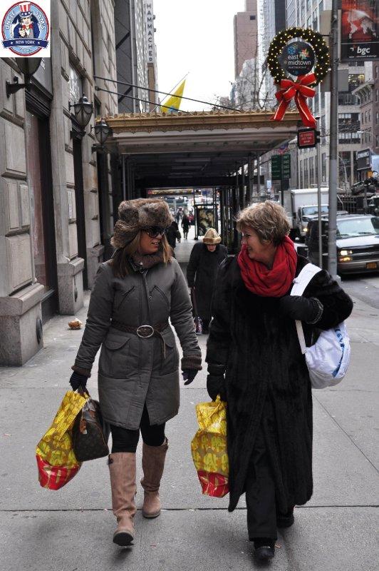 Uncle Sam's Fashion Tour on 5th Avenue walking tour. Dec 10, 2010