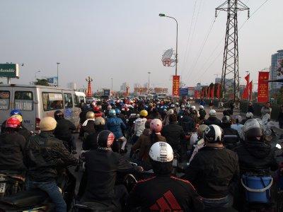Motorbike jam