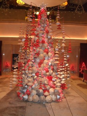 Vietnamese take on the traditional Christmas tree, InterCon Hotel, Tay Ho