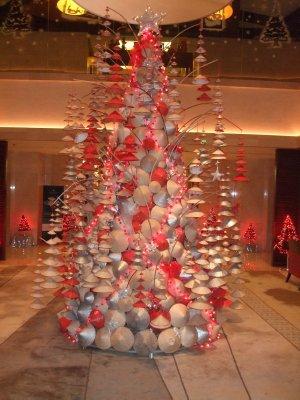 Vietnamese take on the traditional Christmas tree, InterCon Hotel, Tay Ho