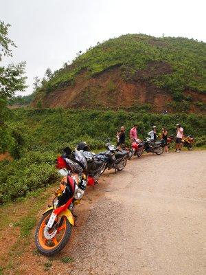 Neat motorbike parking!