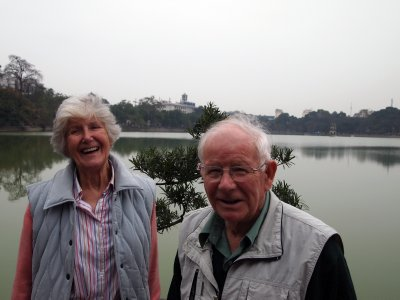 G&G at Ngoc Son Temple, Hoan Kiem Lake  visitors March 2011