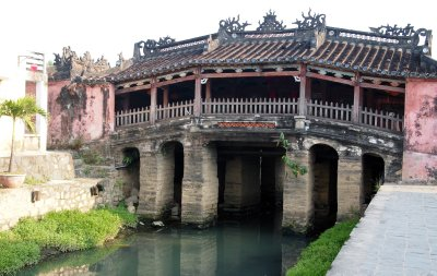 Japanese bridge in the early morning, Hoi An