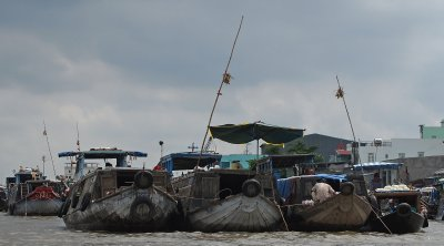 Floating market, Mekong