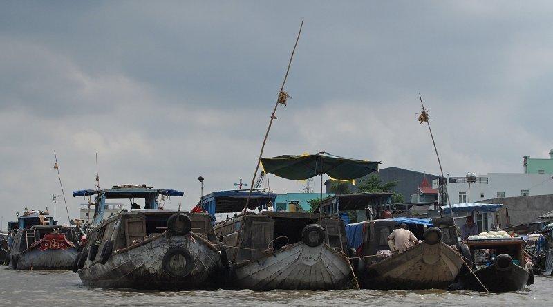 Floating market, Mekong