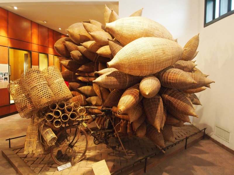 Bicycle seller with fish traps, Museum of Ethinology