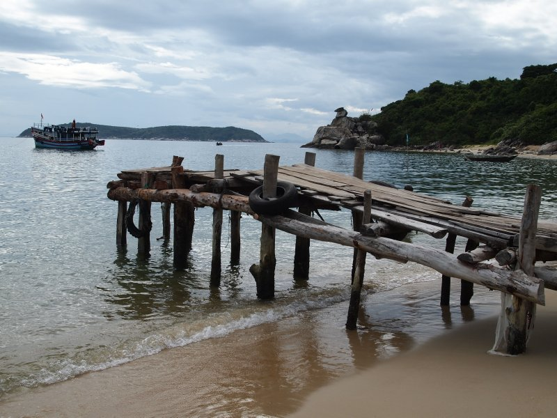 Jetty on one of the Cham Islands