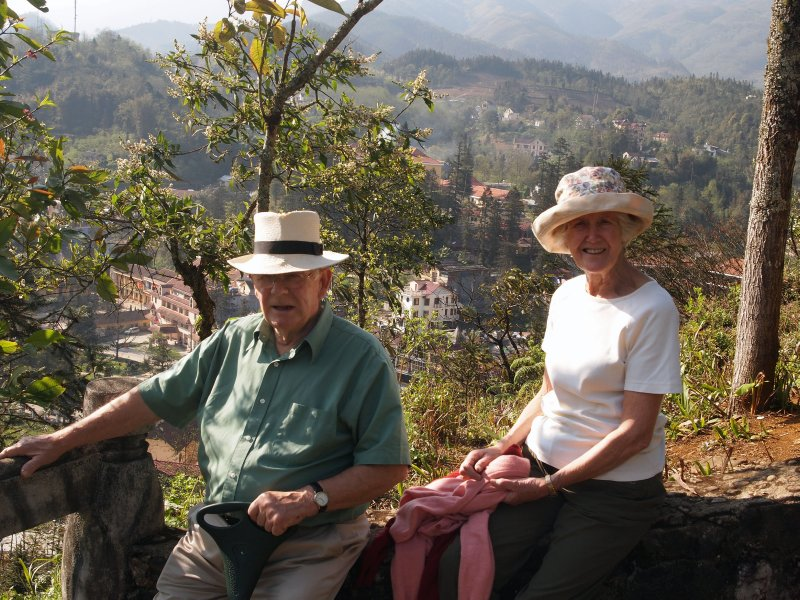 Parents in the Orchid Garden, Sapa  March 2010