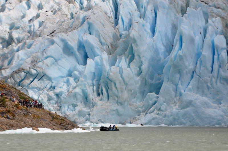 At the Foot of the Serrano Glacier