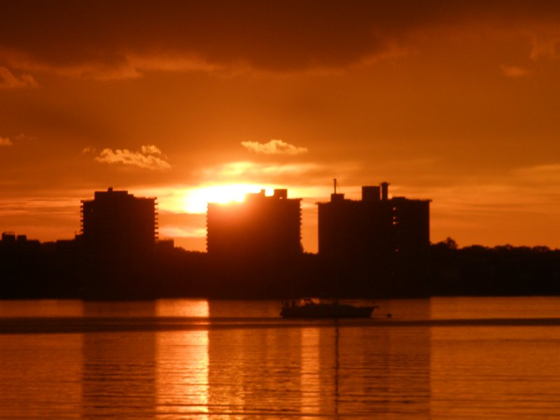 Sunset in a bay