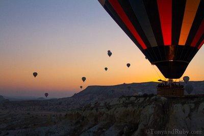 Sunrise in Cappadocchia in a Hot Air Balloon