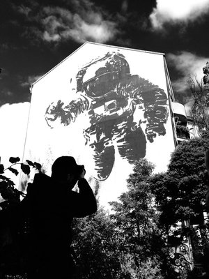 Awesome Huge Astronaut Mural