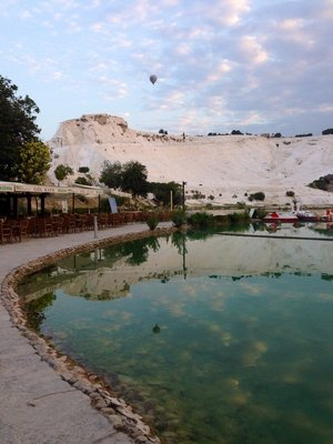 Pammukale from the grounds below