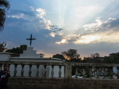 Cemetery Sunset in Madagascar