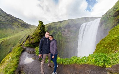Skogafoss from the Hike!
