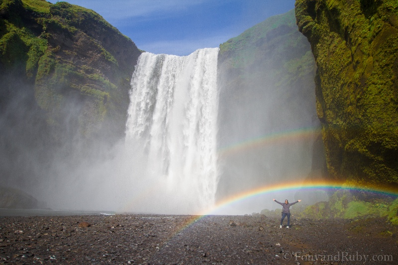 Rainbow at Skogafoss