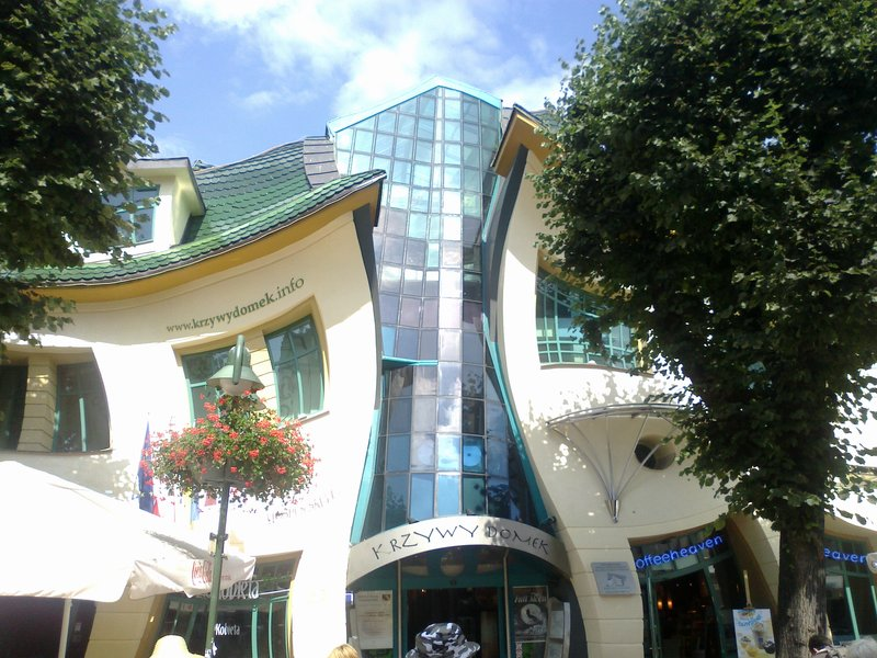 crooked house ,sopot poland