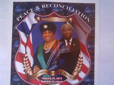 President Sirleaf with Vice-President Boakai