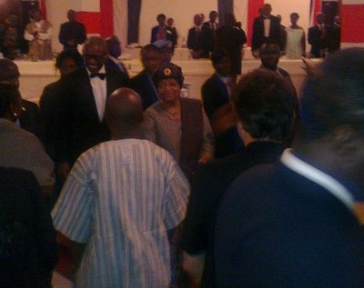 The reason for our speed drive: the inauguration gala of President and Peace Nobel Prize winner Ellen Johnson-Sirleaf (January 2012).