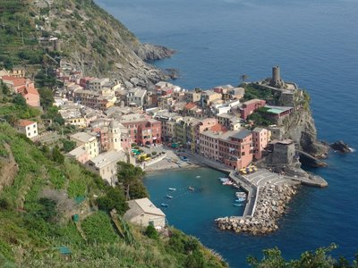 View down to Vernazza