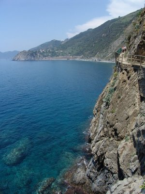 Azure water of the Ligurian Sea