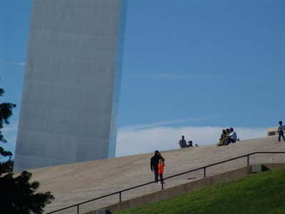 Steps leading to the Gateway Arch
