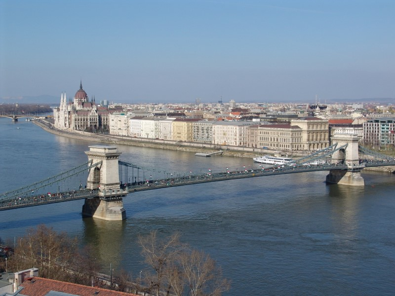 River Danube seen from Buda