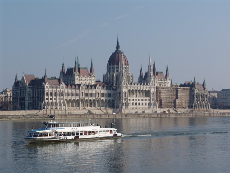 Hungarian Parliament from across the Danube
