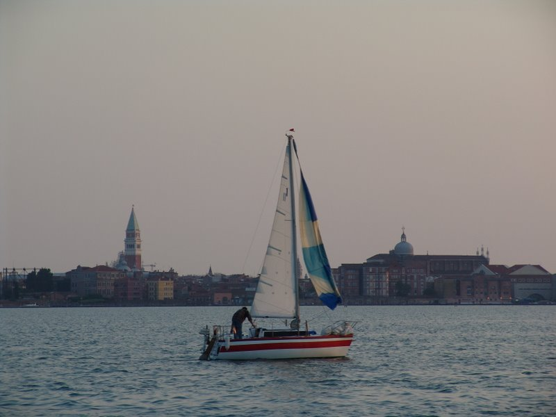 Venice lagoon at dusk