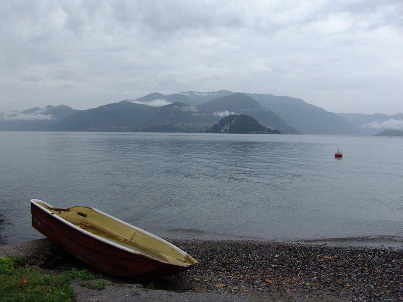 Beached on the lakeshore of Lago di Como
