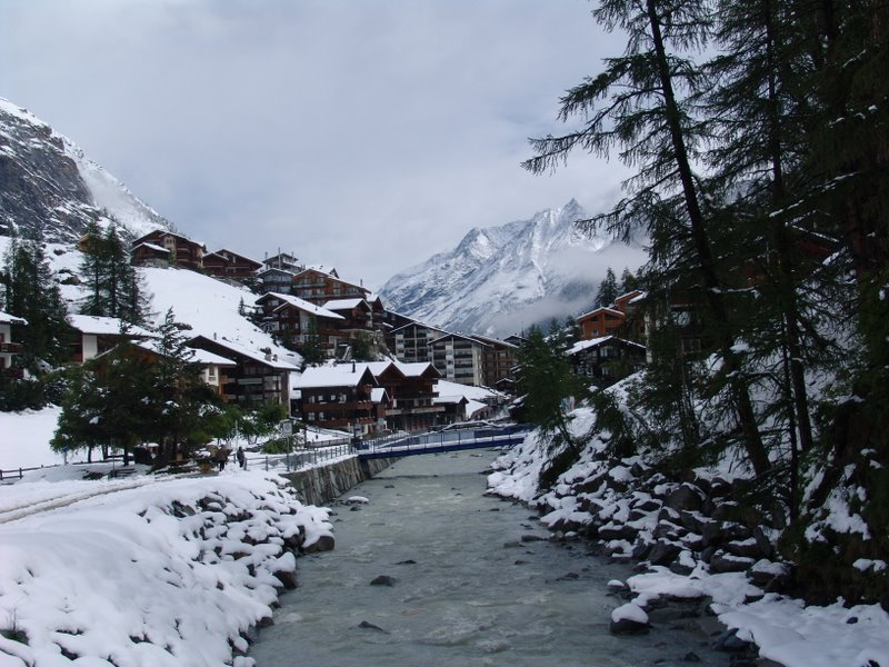 Mountain stream in Zermatt