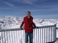 Tim on top of the Schilthorn