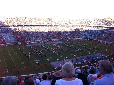 The marching band - they were amazing