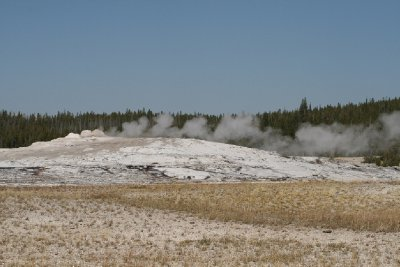 Old Faithful between eruptions