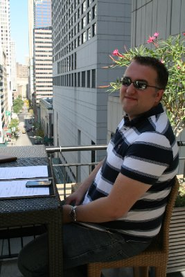 Lunch on the hotel terrace in Chicago