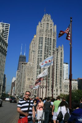 Paul in Chicago - on the Magnificent Mile
