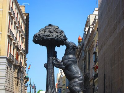 Symbol of Madrid: Bear and the Madroño Tree
