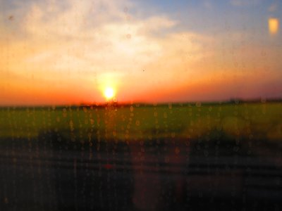 Sunset from Train