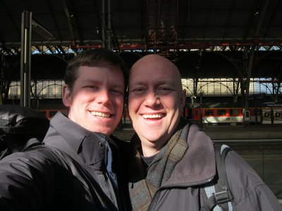 Jeff and I at the Train Station