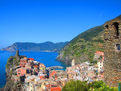 Vernazza with Monterosso in the Distance