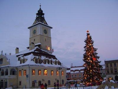 Xmas tree in Brasov