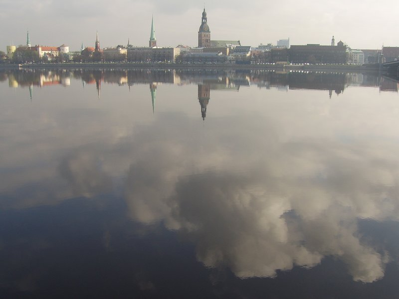 Riga and the Daugava River